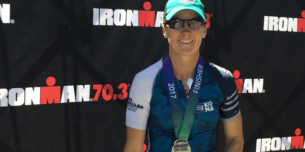Kate using her fitness to race Ironman triathlon.